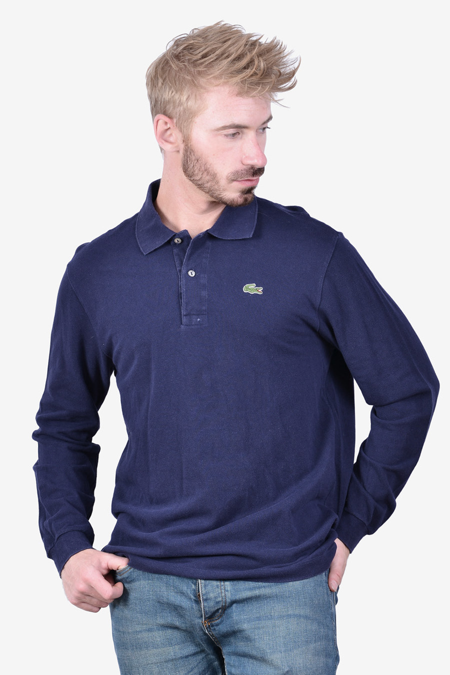 Vintage Lacoste long sleeved polo shirt