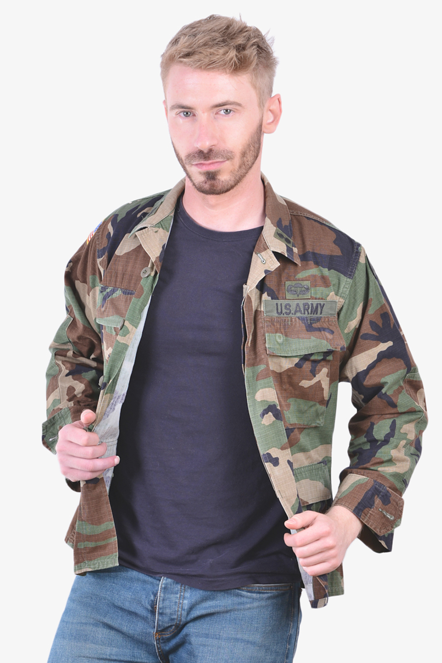 US Army Woodland BDU military shirt