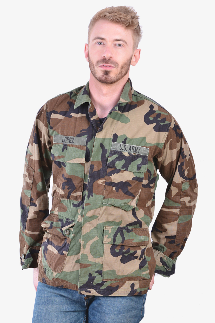 Men's US Army Woodland BDU military shirt