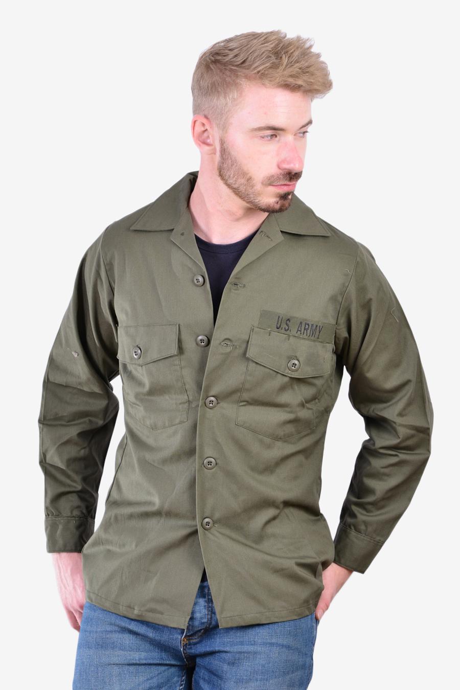 Vintage US Army OG Utility shirt