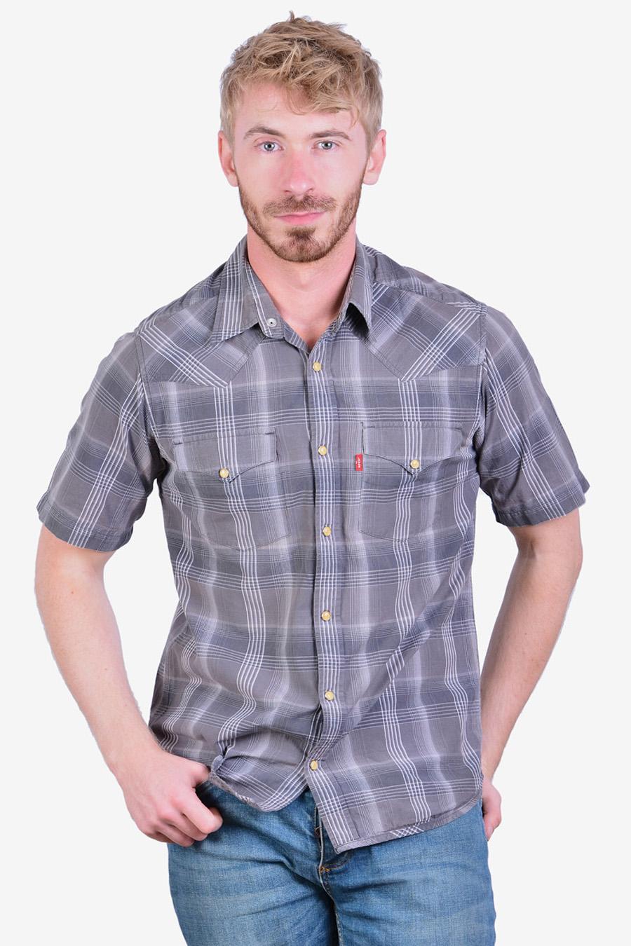 Vintage Levi's plaid western shirt