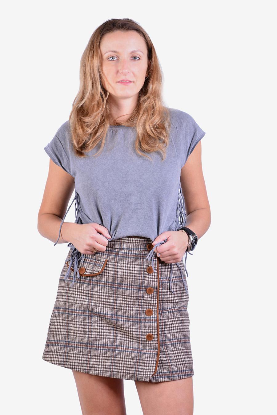 Vintage wool mini skirt