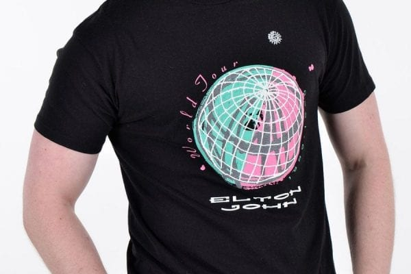 Vintage 1989-90 Elton John World Tour t shirt