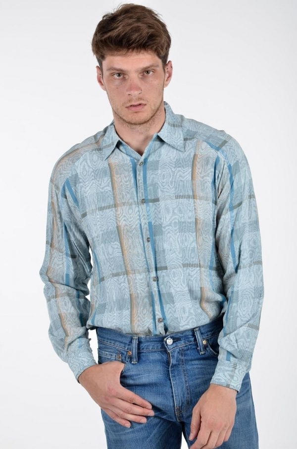 Vintage men's abstract shirt