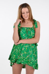 Vintage flounced summer dress