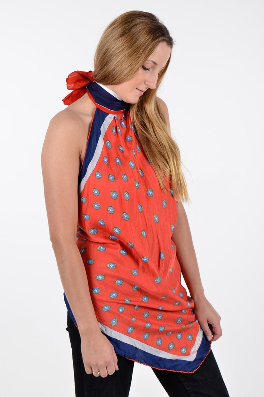 Vintage scarf dress