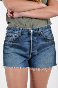 Levi's vintage high waisted denim shorts