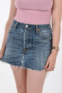 Vintage re-made Levi denim mini skirt