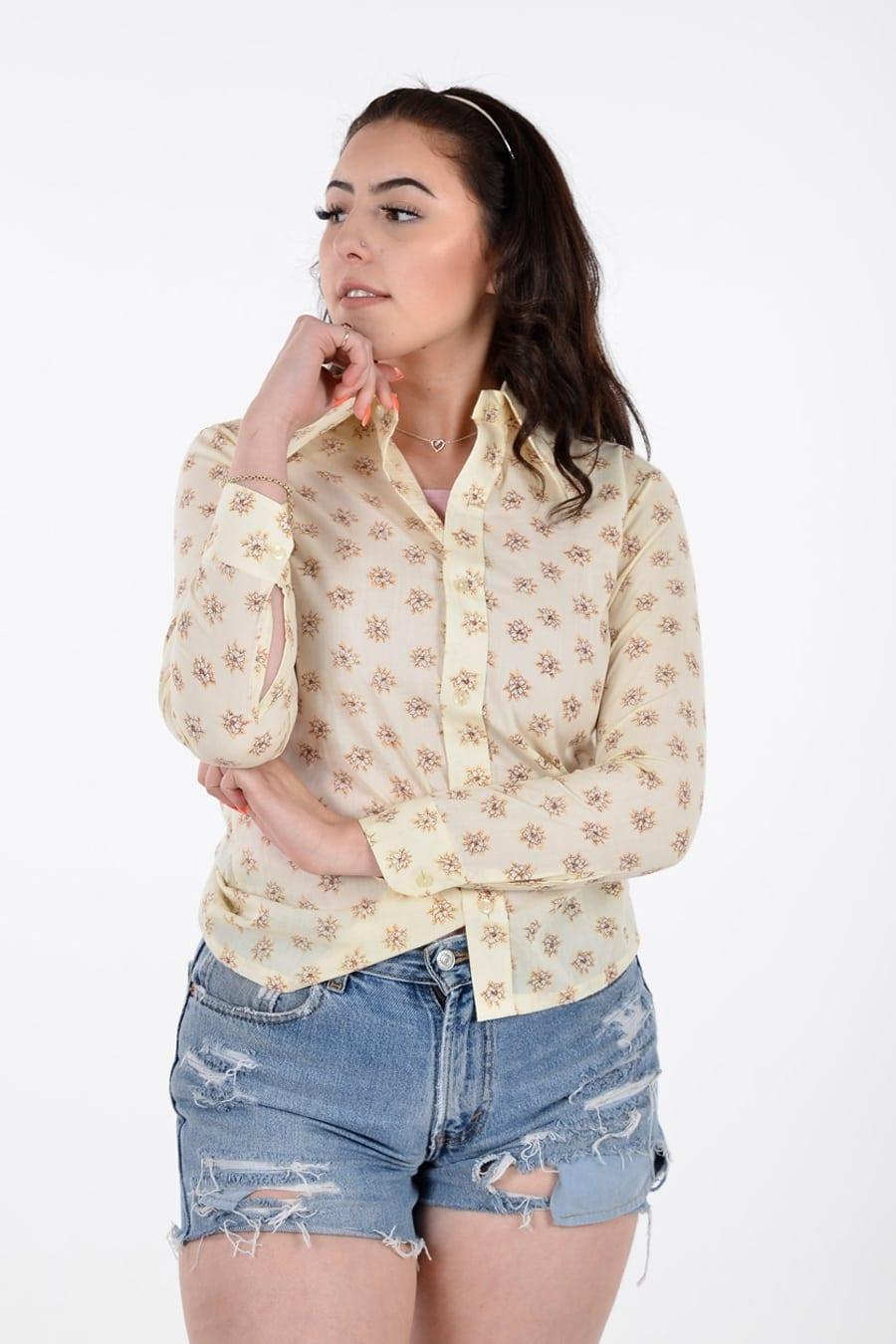 1970's floral shirt