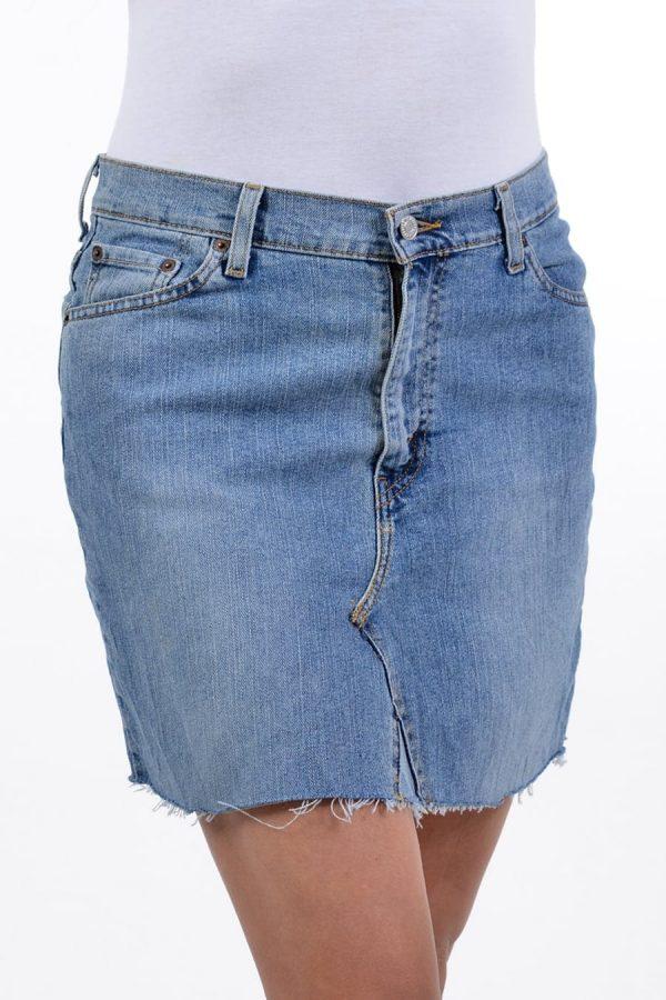Vintage re-made Levi denim mini skirt