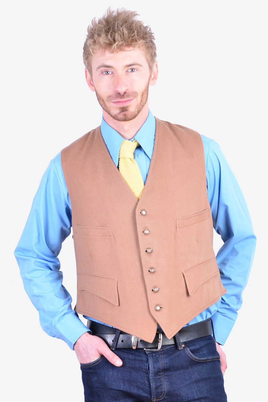 www.brickvintage.com Vintage 1960/'s Hammersley Wool Waistcoat 44 L