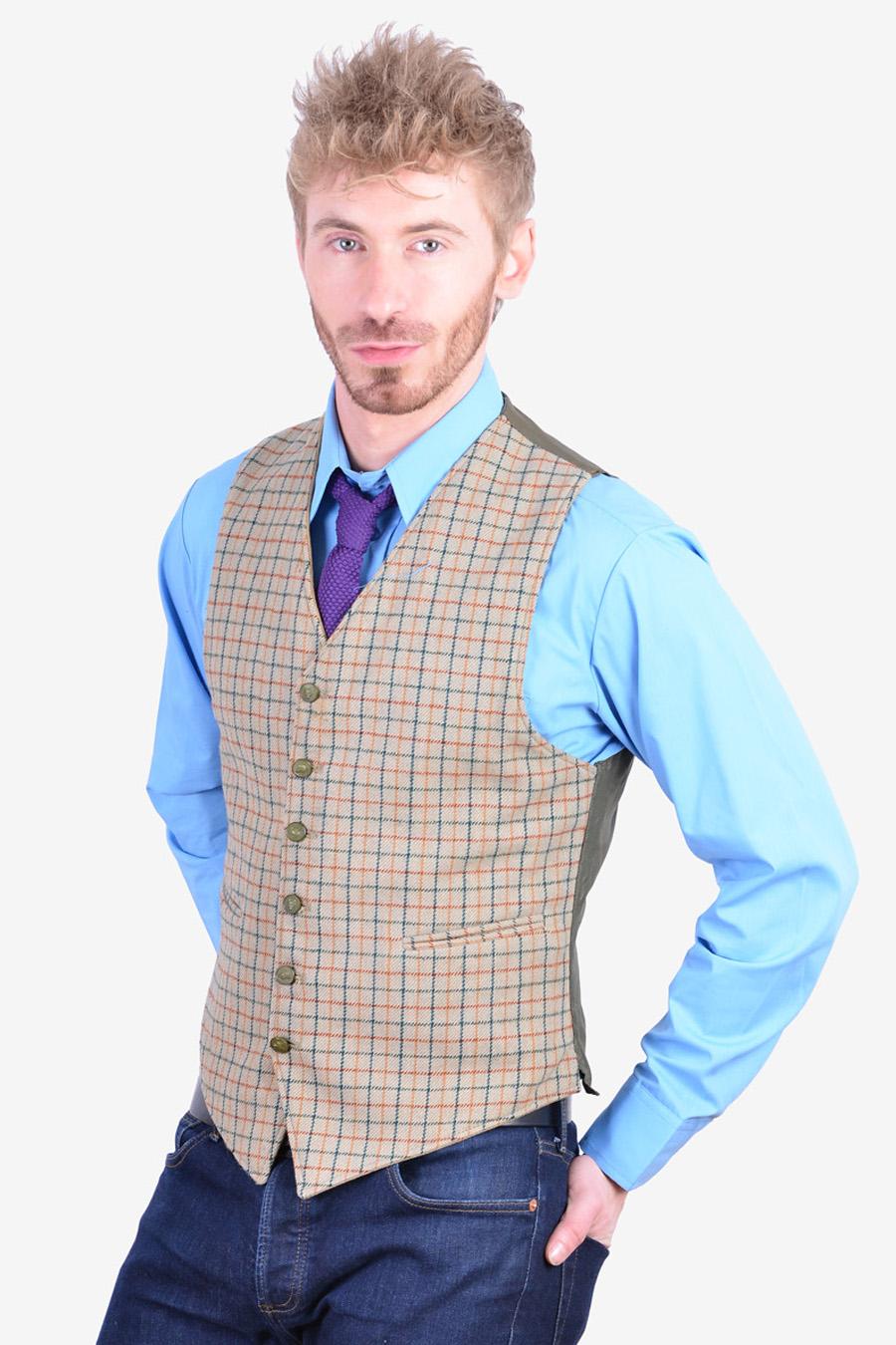 Vintage reversible waistcoat