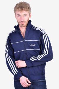 Vintage Adidas navy blue tracksuit jacket