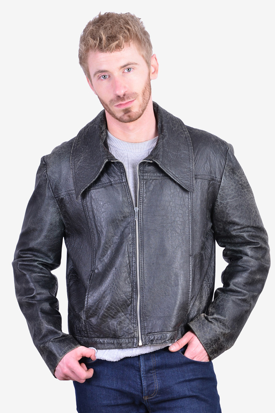 Retro 1970's leather jacket