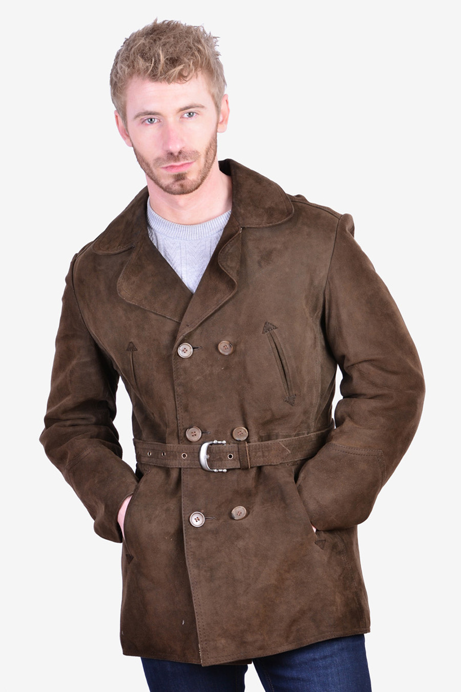 Vintage 1970's men's suede jacket
