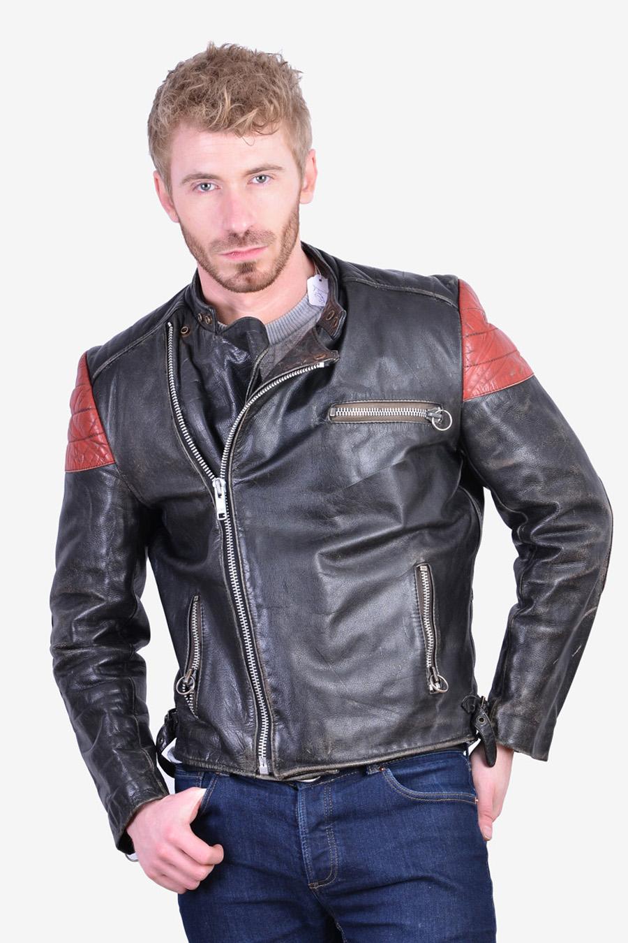 Vintage cafe racer biker jacket