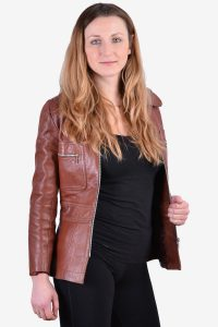 Vintage women's leather jacket