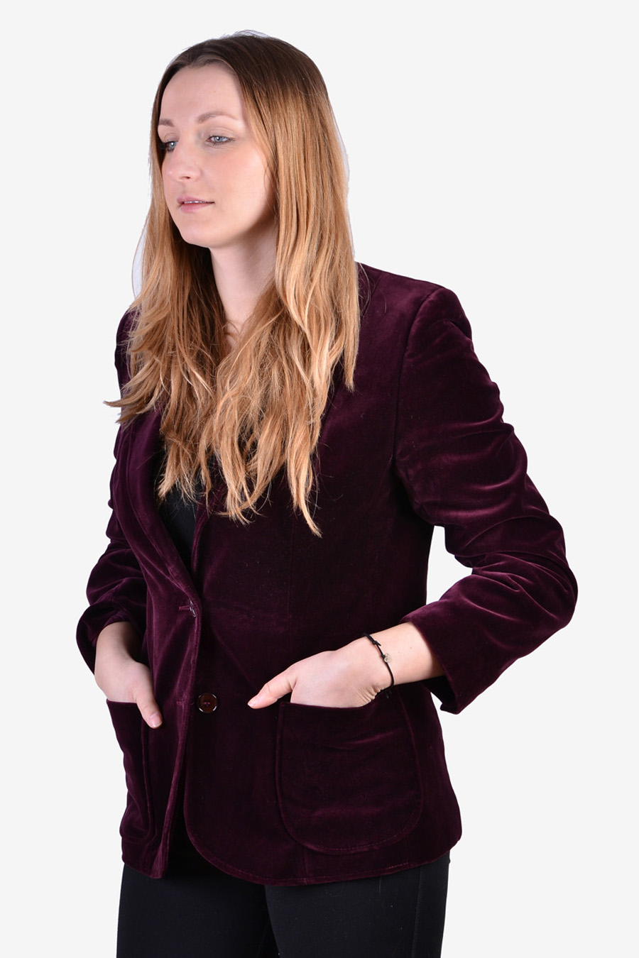 St Michael women's velvet jacket