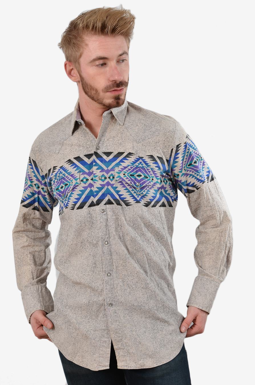 Vintage Aztec western shirt