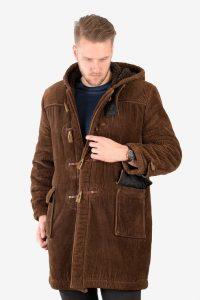 Vintage corduroy duffle coat