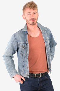 Vintage Levi's orange tab denim jacket.