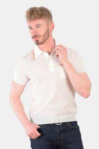 Vintage Banlon white polo shirt