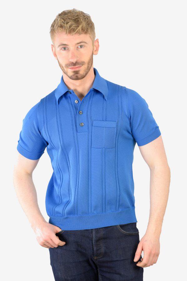 Vintage 1960's blue polo shirt