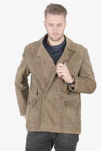 Vintage suede pea coat