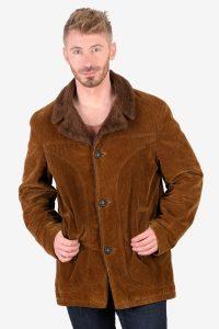 Vintage corduroy shearling coat