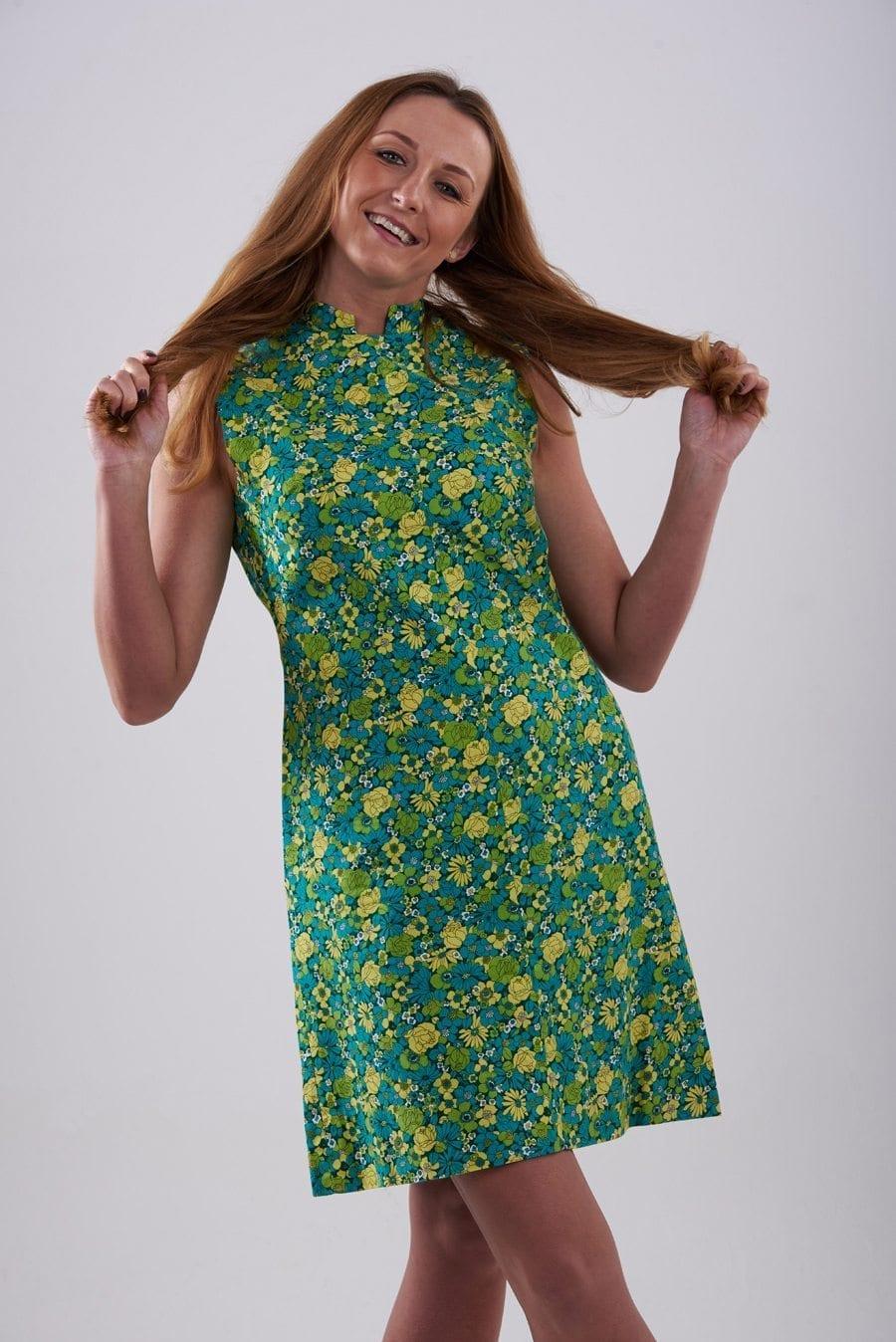 Vintage floralshift dress