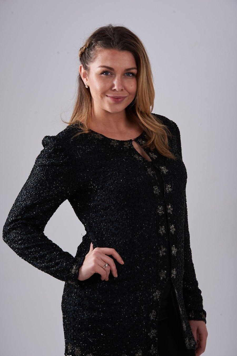 Vintage sequin cardigan