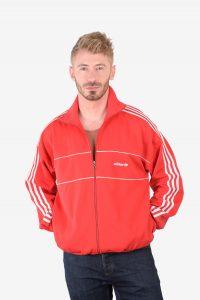 Vintage Adidas red track jacket