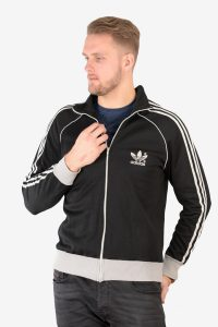 Vintage Adidas Europa black track jacket