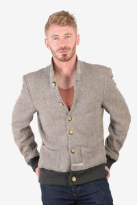 Men's vintage Harris Tweed bomber jacket