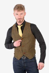Men's vintage Harris Tweed waistcoat