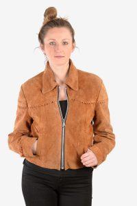 Vintage women's suede bomber jacket