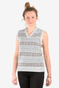Vintage women's fair isle tank top