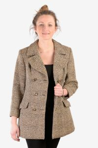 Vintage 1970's tweed coat for women