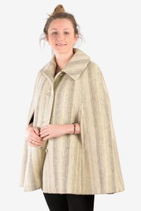 Vintage striped wool cape
