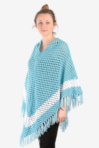 Vintage hand knitted crochet poncho