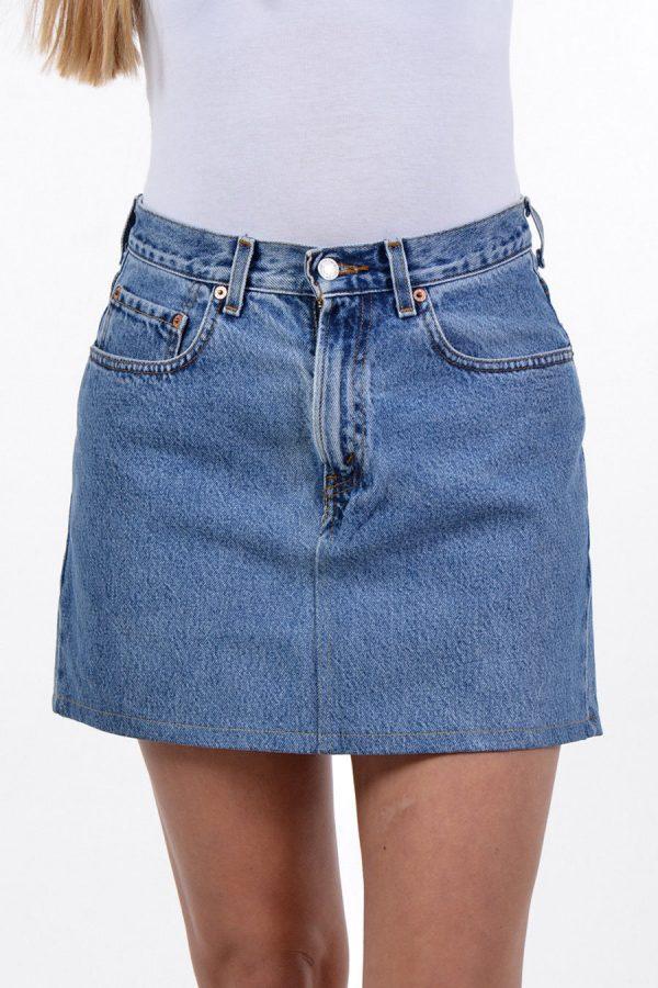 Vintage Levi high waisted denim mini skirt