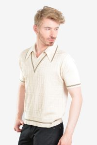 Vintage 1960's Italian knit polo shirt