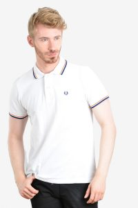 Vintage Fred Perry white polo shirt