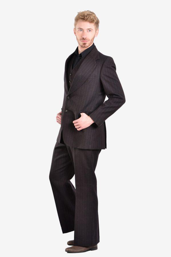 Vintage 1970's flared three piece suit