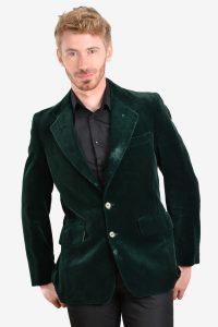 Vintage 1970's green velvet jacket