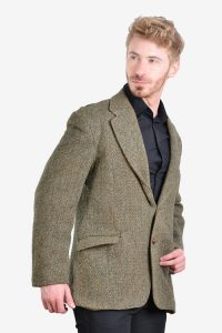 Vintage Harris Tweed herringbone jacket