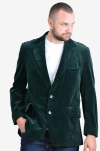 Men's 1970's velvet jacket