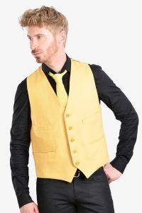 Vintage yellow wool waistcoa