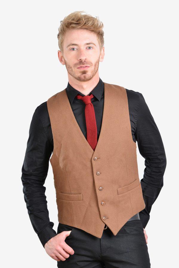 Vintage men's brown waistcoat