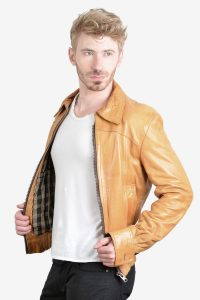 1970's leather bomber jacket